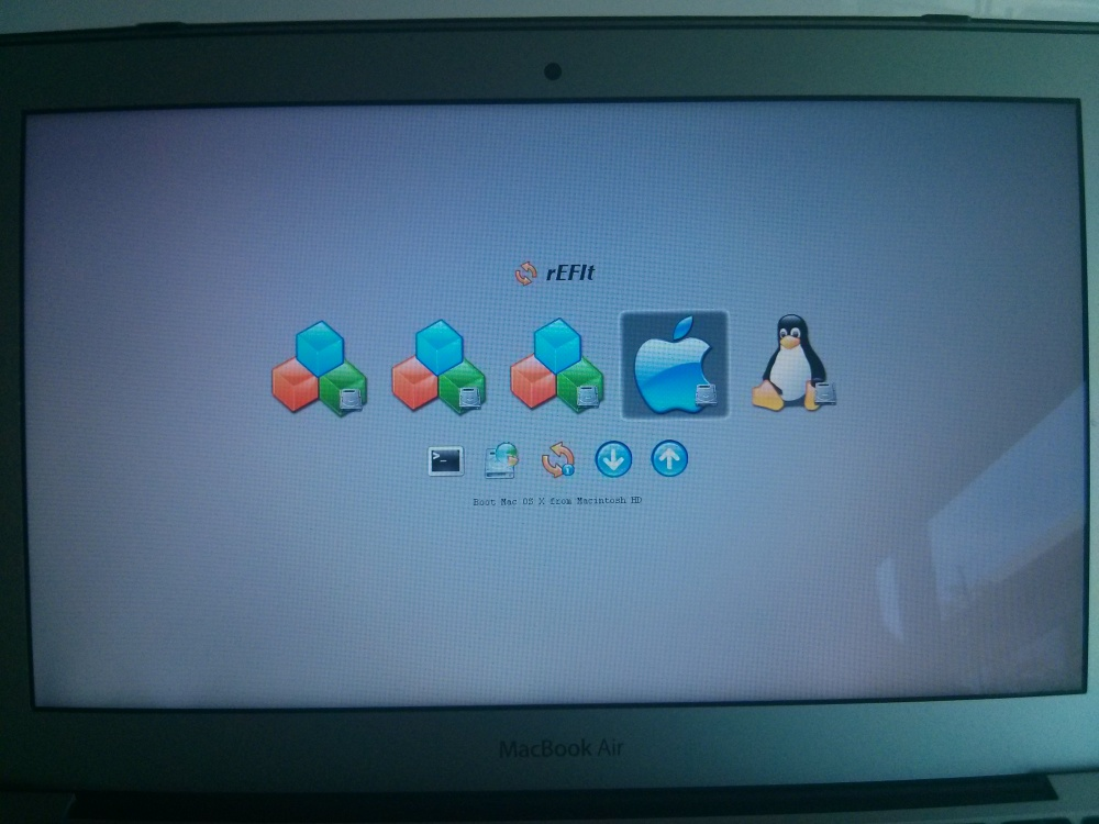 Arranca Live USB y Linux mbr en Mac OS X Apple con rEFIt. (2/5)