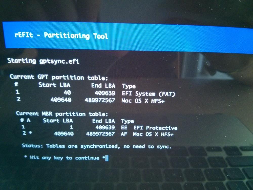 Arranca Live USB y Linux mbr en Mac OS X Apple con rEFIt. (4/5)